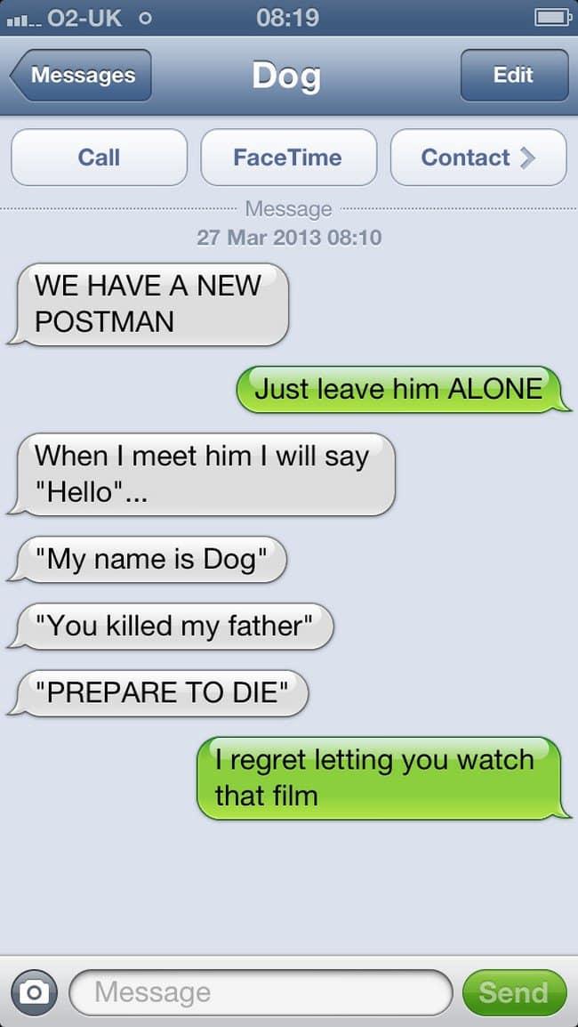 new postman text