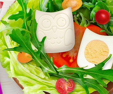 owl boiled egg mold