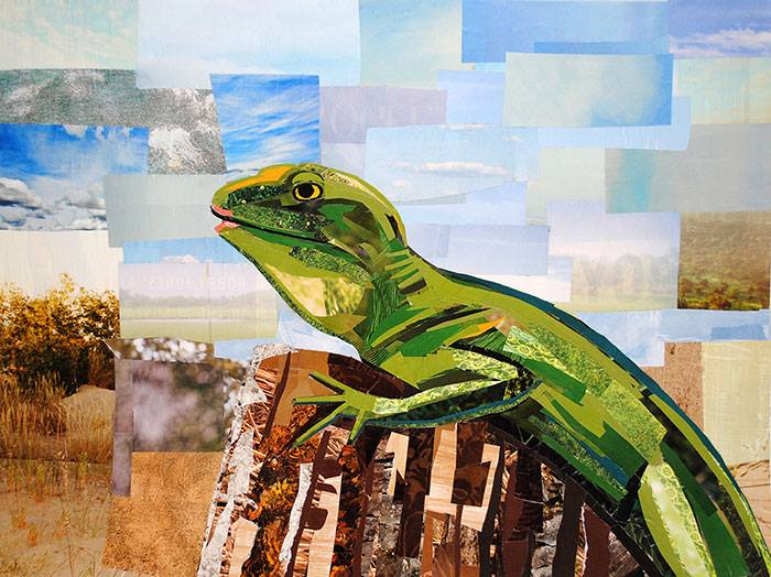 paper lizard