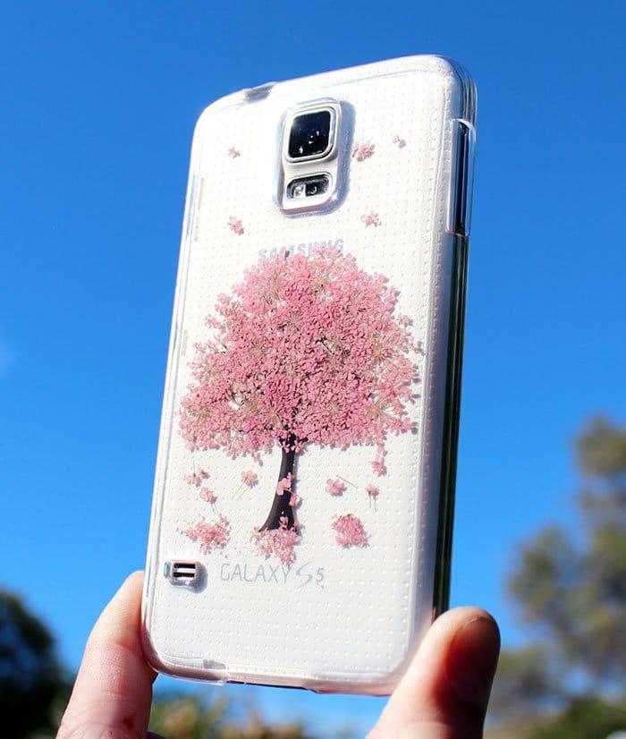 pink tree phone