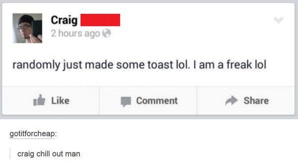 random toast freak