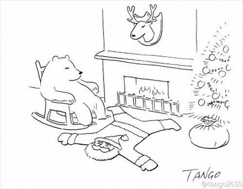 santa rug bear