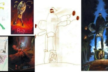 scary childrens drawings