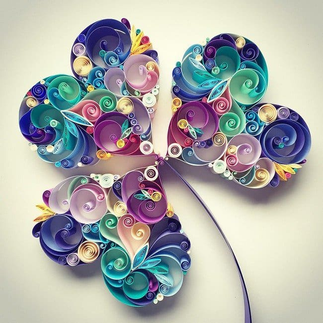 shamrock quilled paper