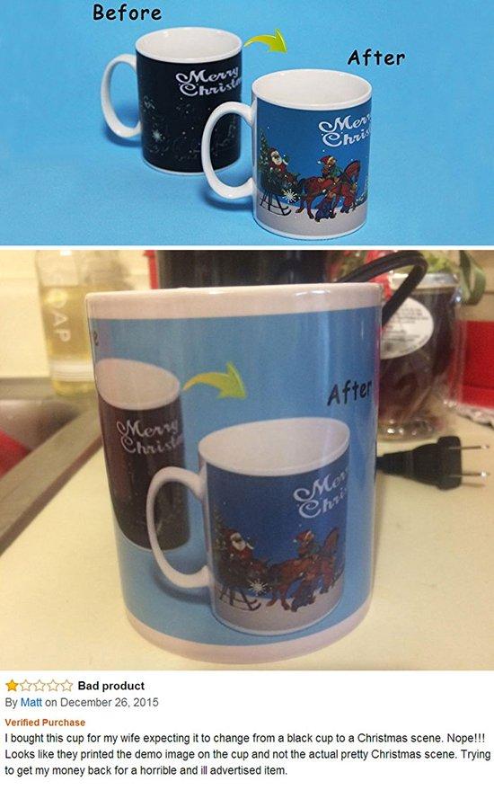 shopping fail color changing mug