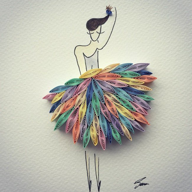 skirt quilled paper
