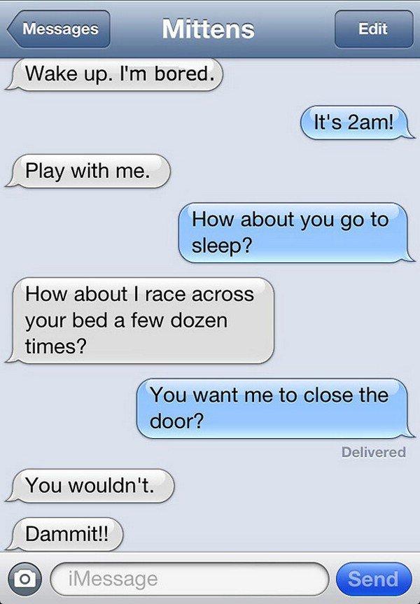 sleep text