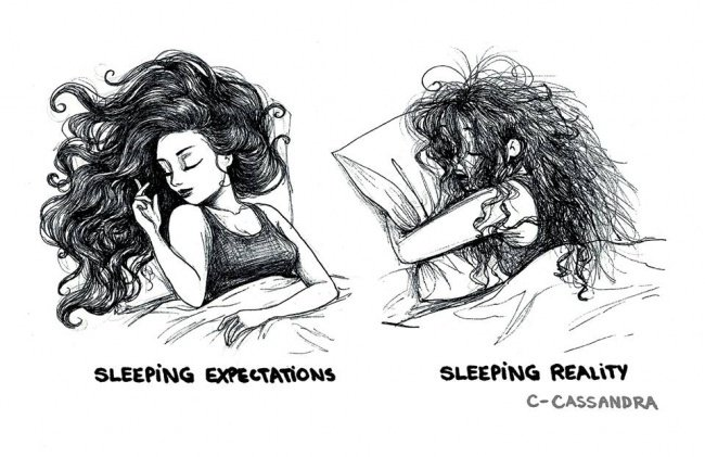 sleeping hair
