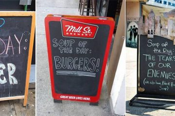 soup of the day signs