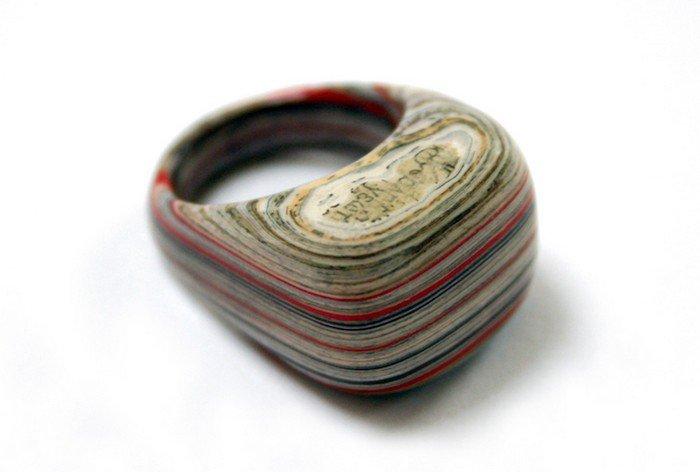 stripy book ring