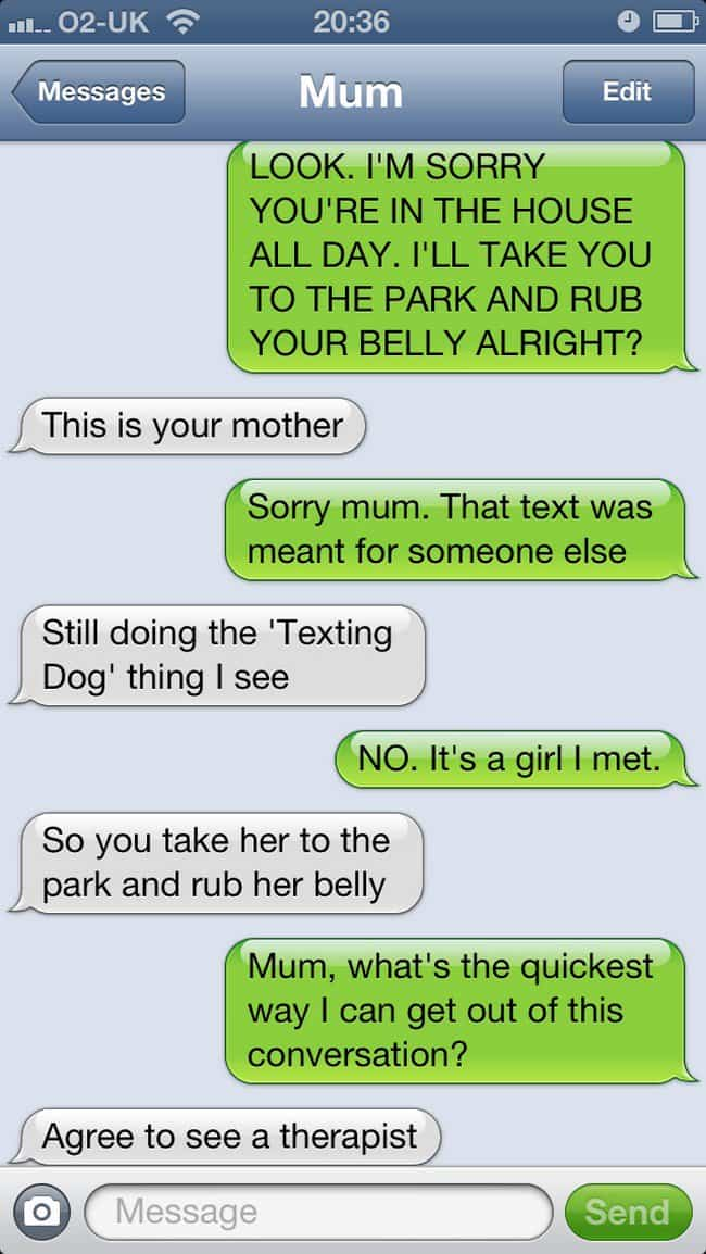 therapist text