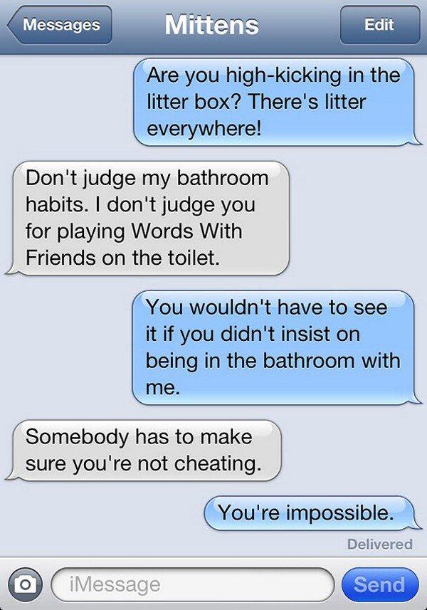 toilet text