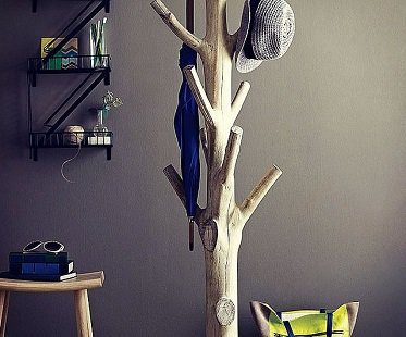tree coat rack trunk
