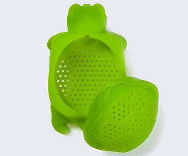 turtle tea infuser green