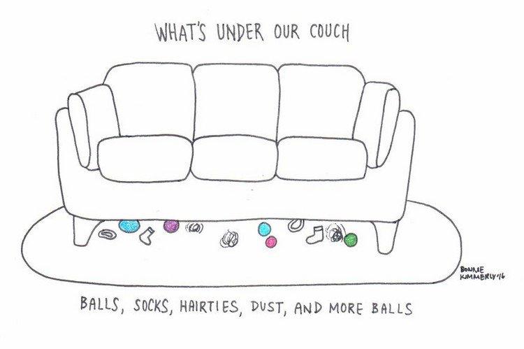 under couch