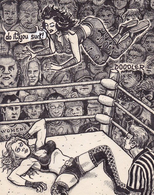 wrestler woman