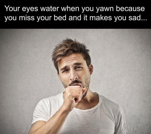 yawn eyes