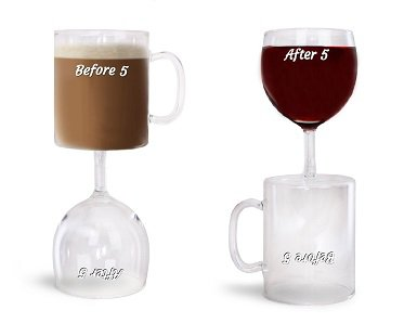 2-In-1 Coffee And Wine Glass double