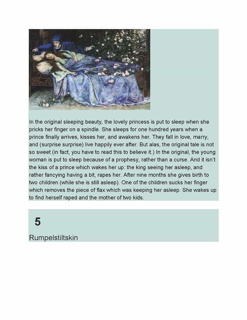 6 Sleeping Beauty