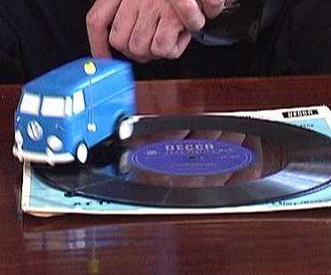 Campervan Record Player vw