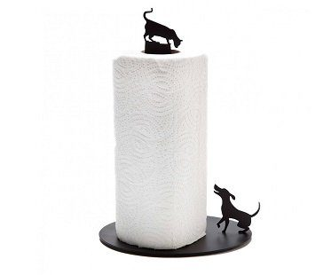 Cat and Dog Paper Towel Holder