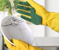 Cleaning Gloves With Sponge Fingers