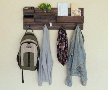 Coat Rack And Storage Organizer hooks
