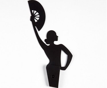 Flamenco Dancer Towel Hanger metal