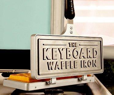 Keyboard Waffle Iron breakfast