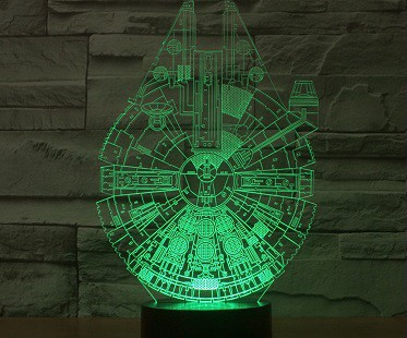 Millennium Falcon Lamp green