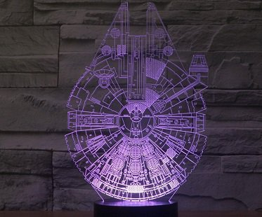 Millennium Falcon Lamp purple