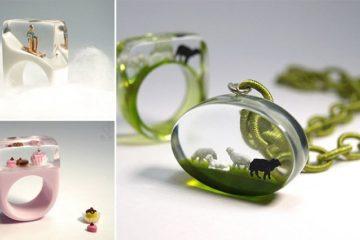 Miniature Scenes Inside Jewelry