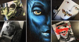 Movie Poster Images Colored Pencils