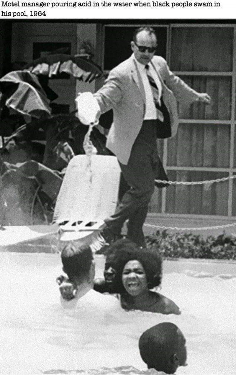 Pouring Acid Swimming Pool