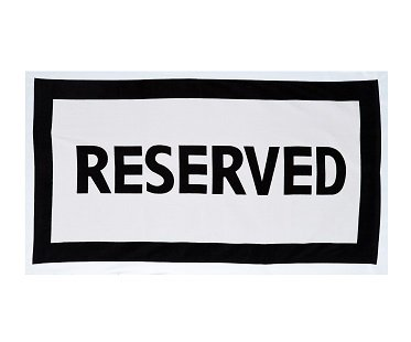 Reserved Beach Towel cotton