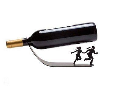 Running Couple Wine Bottle Holder