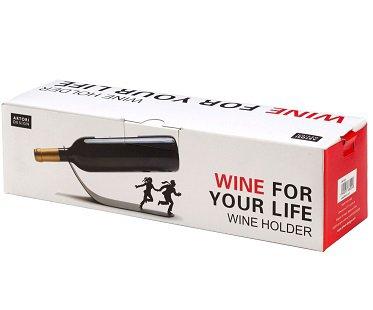 Running Couple Wine Bottle Holder box