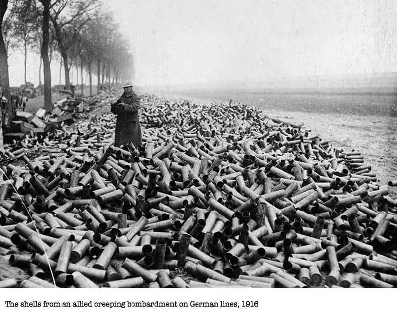 Shells German Lines