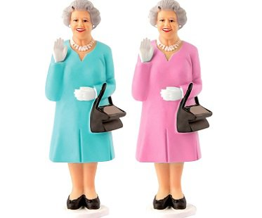Solar Powered Waving Queen figurine