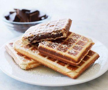 Stuffed belgian waffle maker