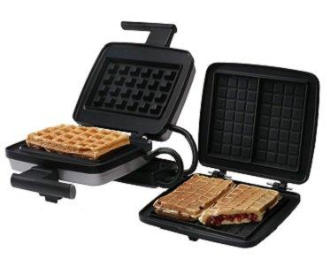Stuffed belgian waffle maker dual