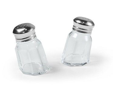 Sunken Salt And Pepper Shakers
