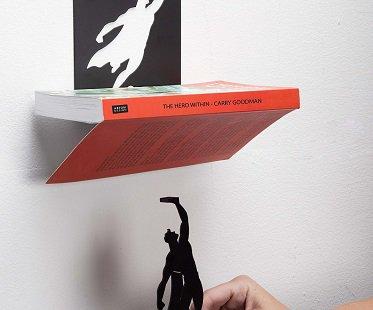 Superman Floating Bookshelf magnetic