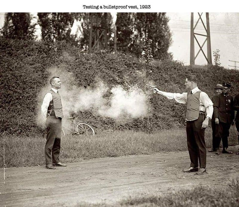 Testing Bullet Proof Vest