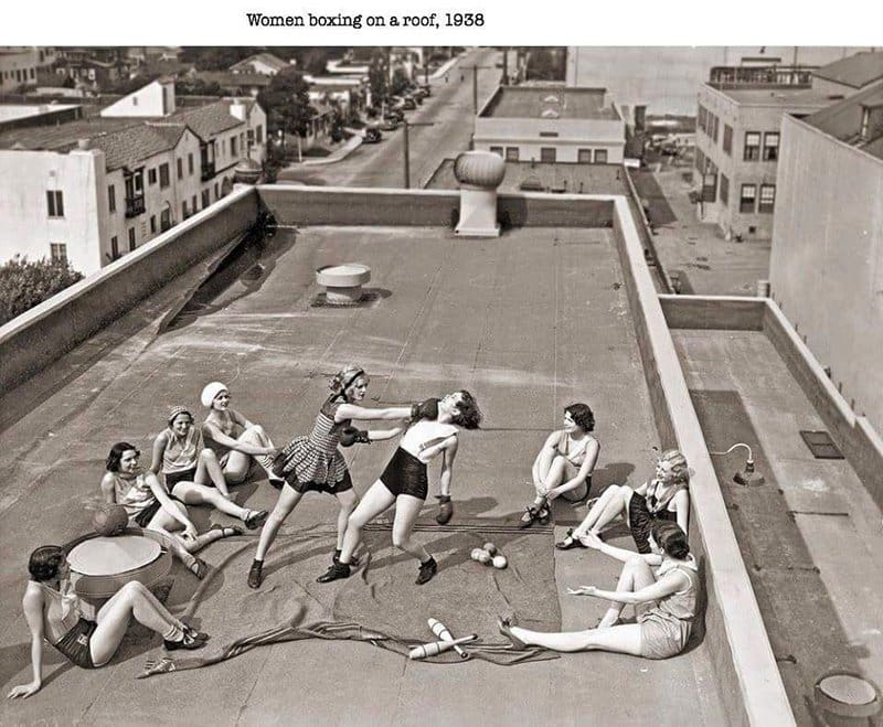 Women Boxing On A Roof