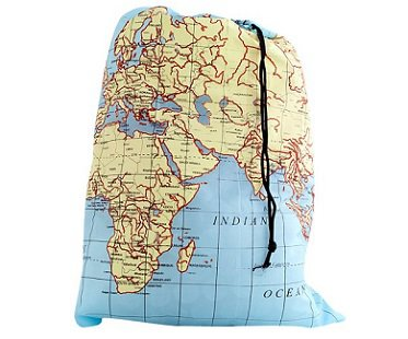 World Map Laundry Bag washing