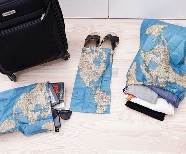 World Map Travel Bags