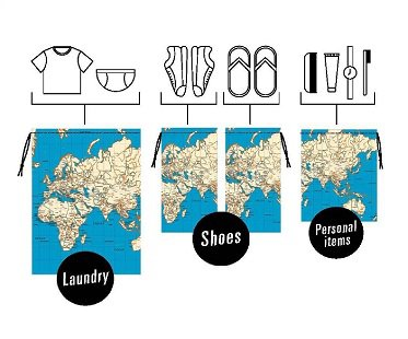 World Map Travel Bags laundry