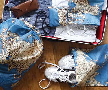 World Map Travel Bags packing