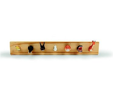 animal head jewelry holder wooden
